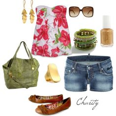 Floral summer outfit..shorts