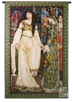 Based on a painting completed in 1901 by Kate Bunce, the Fine Art Tapestries The Keepsake Wall Tapestry depicts a memorable scene from The Staff. Room Tapestry, Tapestry Weaving, Painting Frames, Painting Prints, Canvas Prints, Framed Artwork, Framed Prints, Celtic Designs, Tapestry Wall Hanging