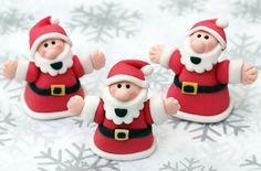 Cómo hacer un Papá Noel de fondant