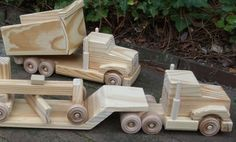 Wooden Toys ultimate construction truck set
