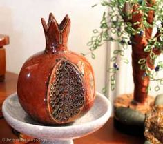 Ceramic pomegranate from Uzbekistan