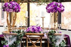 WedLuxe– Purple Princess | Photography by: Avenue Photo Follow @WedLuxe for more wedding inspiration!