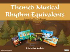 Musical Themed Rhythm Equivalent Note Values - Interactive Music Game Music Theory Games, Rhythm Games, Music Games, Games Jungle, Interactive Activities, Music Lessons, Teaching Resources, Musicals, Notes