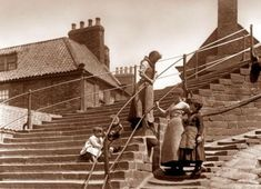 Vintage Photographs, Vintage Images, Whitby Abbey, Nostalgic Images, Seaside Towns, Landscape Prints, North Yorkshire, Historical Photos, Black And White Photography