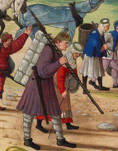 c. 1501 Hans Burckmaier (Hans Burgkmair) -  Triumph of Maximilian I, copy that is in the Biblioteca Nacional de Espana in Madrid. Second file link PAGE 51 detail - rectangular pack.