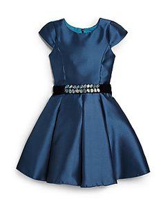 Zoe Girl's Cap-Sleeve Swing Dress