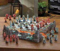 Dawn Of Battle Dragon Themed Chess Set $180.00, FREE Shipping