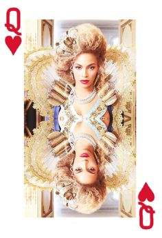 Queen of our hearts. This is a great idea. . .using a playing card with Photoshop-type 'help.'.....wdk