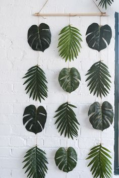 DIY Palm Leaves Wall Decor! It's perfect for birthdays, showers, bachelorette parties, dinner parties and more. This party box includes all of the tabletop, decorations, activity, party favors & thank you notes you'll need for a perfect party.