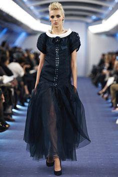 Chanel Spring 2012 Couture Fashion Show - Anja Rubik