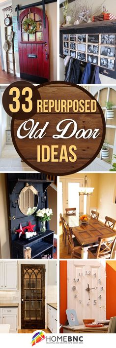 Home Ideas: 33 Artistic and Practical Repurposed Old Door Idea...