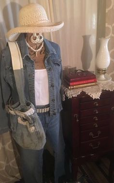 2baaea68b512 Used Women s Blue Jean Bag with white Belt for sale in Beaumont