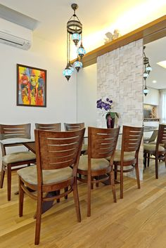 Furnishings design and style concepts that has wood material and also exclusive pendant light.
