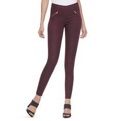 Women's Jennifer Lopez Pull-On Jeggings, Size: 8 - regular, Dark Red