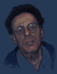 Portrait of classical composer Philip Glass