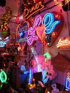 God's Own Junkyard - destination, neon. London. Neon artist Chris Bracey.