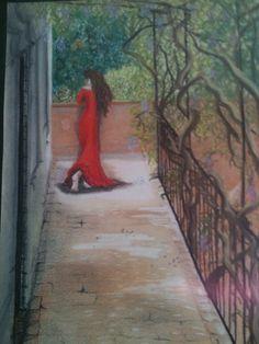 Mujer en la terraza. Besalú