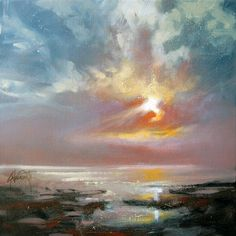 Seascape painting Oil on canvas Original size 30 x 30cm Scottish Landscape Painting Youtube Like Me on Facebook