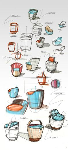Modern Furniture, Bounce Chair Design by Pedro Gomes is part of furniture Sketch Design - Bounce Chair design is a modern furniture piece that is stylish, functional and can be used for exersing and improving your health Graphisches Design, Sketch Design, Shape Design, Creative Design, Design Ideas, Interior Design, Creative Advertising, Apple Logo, Portfolio Design