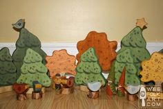 Christmas Corner - Wooden Pine Forest | Wee Folk Art