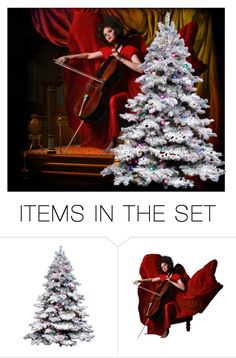 """""""Christmas Music"""" by deborah-strozier ❤ liked on Polyvore featuring art et modern"""