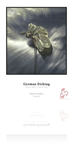 German g/m² · α-Cellulose · whiteThis heavyweight etching board is velvety smooth with a fine surface texture. German Etching® is one of the mo Artist Materials, Jackson's Art, Illustrations, Photo Black, Texture Art, Cool Names, Medium Art, Printing Services, Fine Art Paper