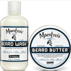 Maestro's Classic 2 Step Regimen to Crafting a Better You in BeardCare. Mark of a Man Large Blendset available at maestrosclassic.com and target.com