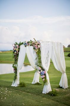 Shabby Chic Meets French Country Wedding Arch ~ Watson-Studios | bellethemagazine.com