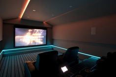 I'd love a movie room. I love the lighting.