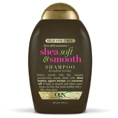 OGX Silicone Free Frizz Defy Shea Soft and Smooth Shampoo  13 oz - 3 Pack