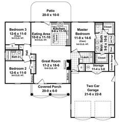 1500 sq ft house plans first floor plan of european traditional house plan 59099 - Rectangle House Plans