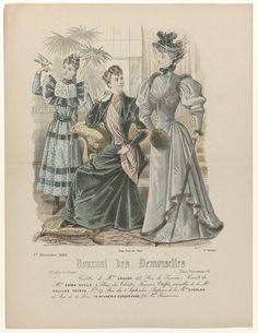 Journal des Demoiselles, 1 décembre 1893, No. 4966 : toilettes de Mme Gradoz..., P. Deferneville, Falconer, 1893