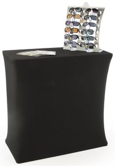 Portable Trade Show Counter Kiosk with Pop Up Stand, Stretch Cover, Wheeled Case Plastic Containers, Trade Show, Table Covers, Craft Fairs, Pop Up, Counter, Stretches, Ministry Ideas