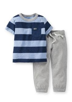 Carters  2-Piece Stripe Tee and Pant Set