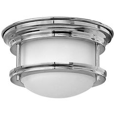 Hinkley Lighting 3308 1 Light ADA Compliant LED Flush Mount Ceiling Fixture with Frosted Glass Shade from the Hadley Collection (Chrome Finish), Silver Wall Mount Light Fixture, Wall Mounted Light, Hinkley Lighting, Flush Lighting, Led Flush Mount, Flush Mount Ceiling, Led Ceiling Lights, Ceiling Fixtures, Light Fixtures