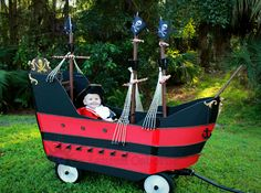 DIY Jolly Roger Wagon Pirate Ship for Captain Hook!