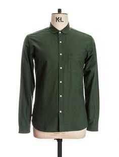 OSS69b Eton Collar Shirt Lumley Green