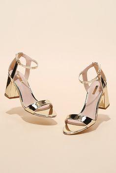 bedaa14490d2 Gigi Gold Mid Heel Sandals By Carvela. Gold Strappy SandalsMid Heel  SandalsGold HeelsCarvela Kurt GeigerAfter DarkSummer ...