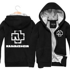 Heavy metal band Rammstein thick fleece hoodies for winter