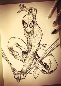 Spiderman Commission artwork Comic Art