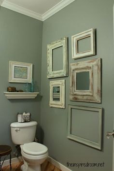 Frames in the Powder Room