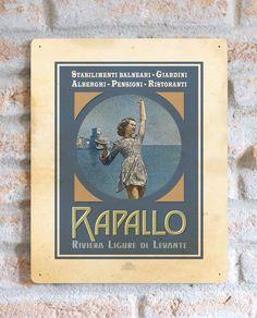 Rapallo | TARGA | Vimages - Immagini Originali in stile Vintage