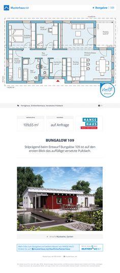 Bungalow Grundriss, 109 m², offene Küche