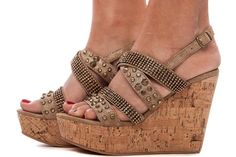 Lime Lush Boutique - Gold Embellished Wedge Sandal, $59.99 (http://www.limelush.com/gold-embellished-wedge-sandal/)  #shoes #heels #styles #outfit  #shopping #glam