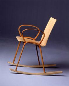 Enzo Mari, Rocking chair Mari, 2003, Thonet, Vienna. Extruded aluminium, plywood.
