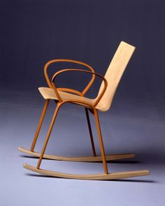 Enzo Mari, Rocking chair Mari, 2003, Thonet, Vienna. Extruded aluminium, plywood.