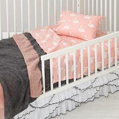 Ruffled Crib Skirt on Toddler bed!!