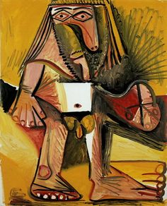 """Pablo Picasso - """"Naked man standing"""". 1971"""