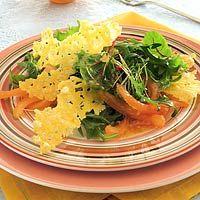 Recept - Gemengde salade met krokante kaaschips - Allerhande
