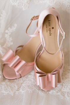 pink Kate Spade wedding shoes